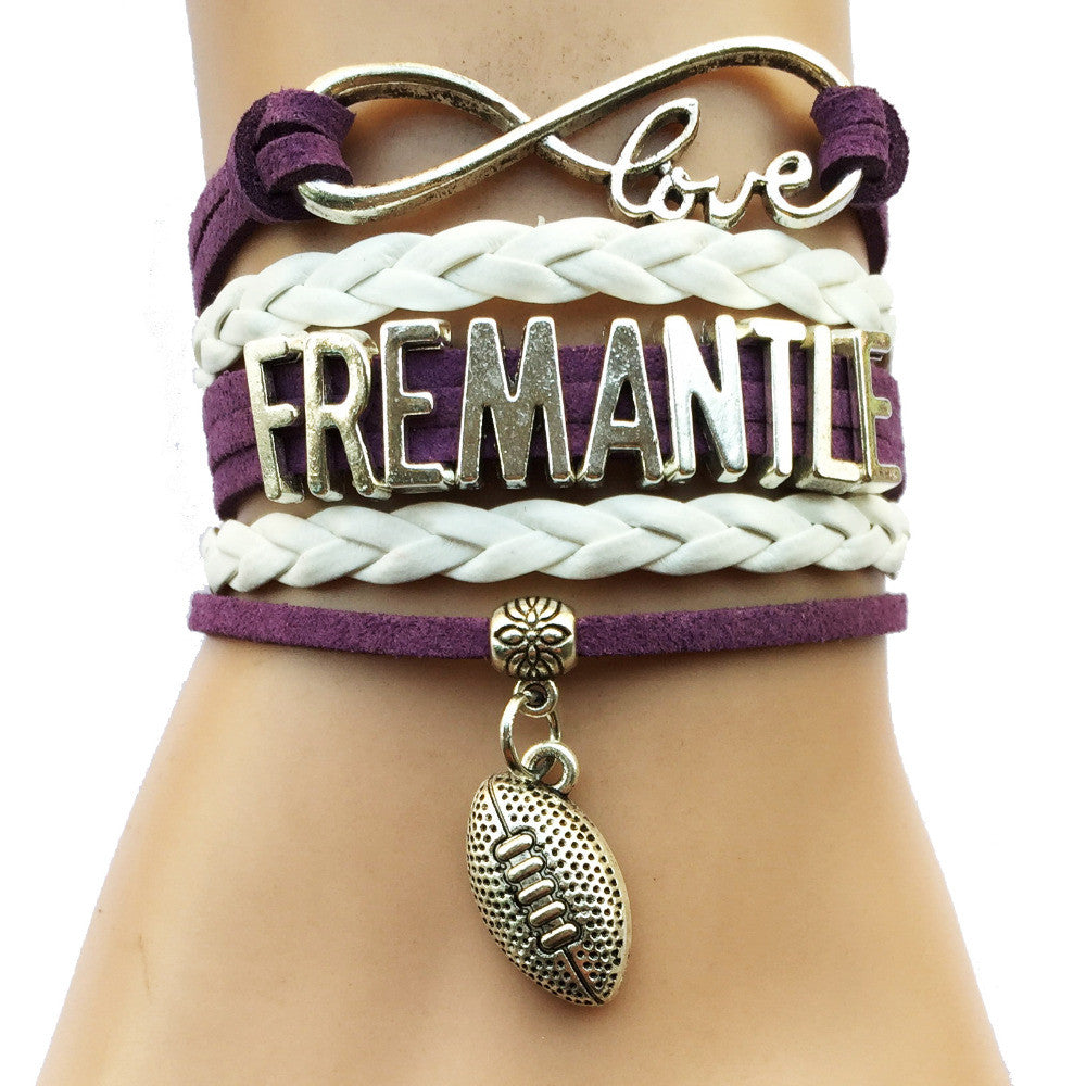 Drop Shipping Infinity Love Fremantle Bracelet-Customized AFL Australian Football League City Cheering Team Club Gifts  drop-shipping-infinity-love-fremantle-bracelet-cus