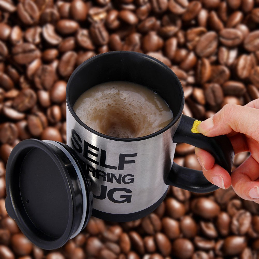 Self Stirring Coffee Cup Mugs Double Insulated Coffee Mug 400 ML Automatic Electric Coffee Cups Smart Mugs Mixing Coffee Cup Black / 400ML self-stirring-coffee-cup-mugs-double-insulated-cof