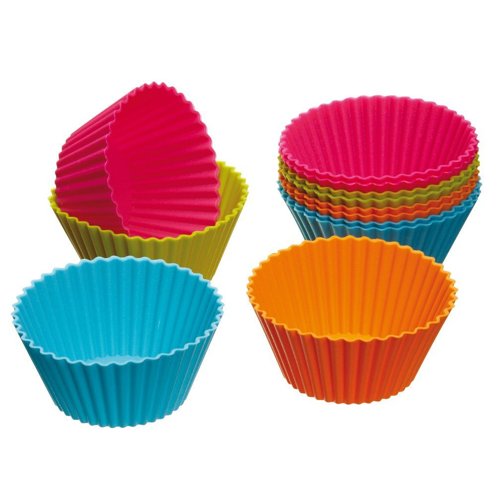 12 PCS/Set Cake Cup Kitchen Craft Colour works Silicone Cupcake Cases forma de silicone Cake Decorating Tools drop shipping  12-pcs-set-cake-cup-kitchen-craft-colour-works-sil