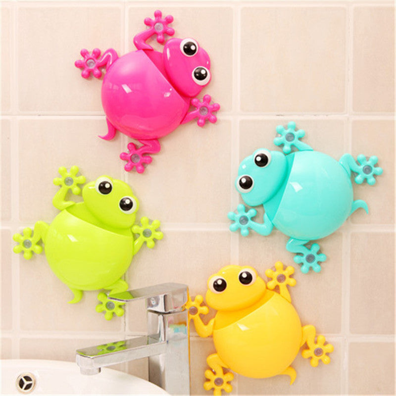 Creative Cartoon Sucker Gecko Toothbrush Wall Suction Bathroom Sets Toothbrush Holder blue creative-cartoon-sucker-gecko-toothbrush-wall-suct
