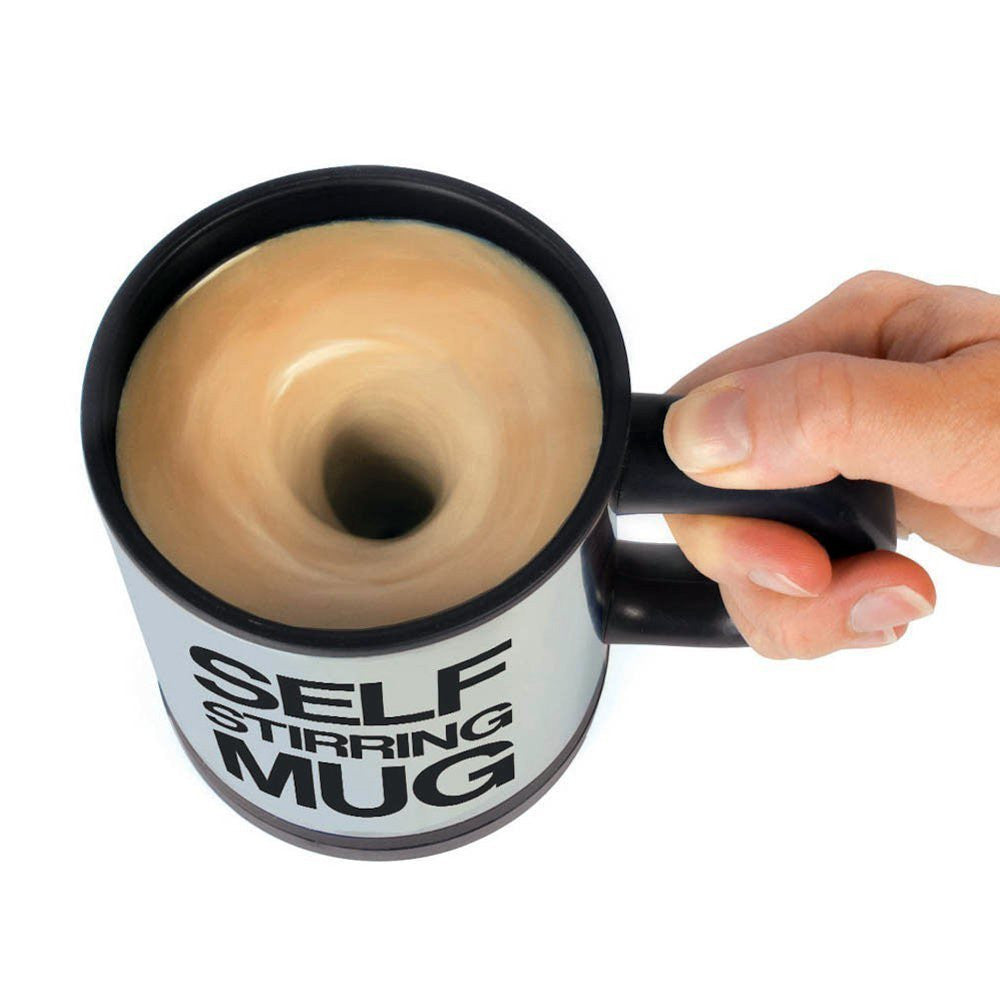Creative Stainless Steel Automatic Electric Self Stirring Mug Coffee Mixing Drinking Cup - 350ml Black / 301-400ml creative-stainless-steel-automatic-electric-self-s