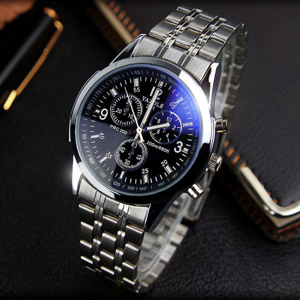 YAZOLE Full Steel White Black Blue Ray Dial 30m Waterproof Luminous Hands Business Dress Sport Wrist watch Watches for Men Male White yazole-full-steel-white-black-blue-ray-dial-30m-wa