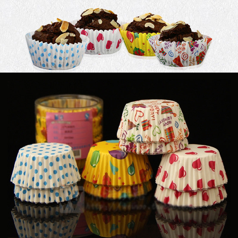 100pcs/Lot Paper Cake Cup Liners Baking Cup Muffin Kitchen Cupcake Cases Color Send Randomly New 2015 Gift 100pcs-lot-paper-cake-cup-liners-baking-cup-muffin