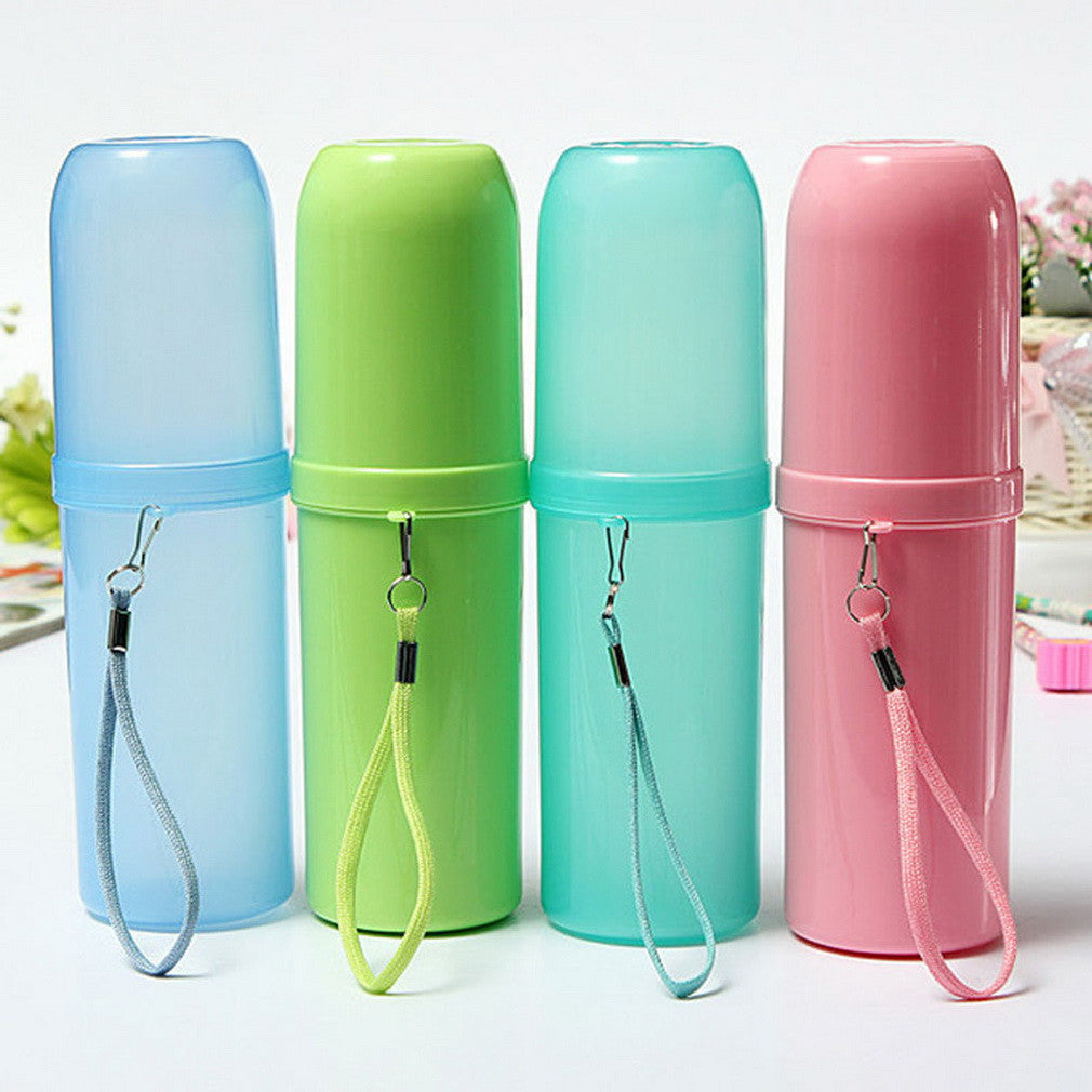 4 Colors Portable Utility Toothbrush Holder Tooth Mug Toothpaste Cup Bath Travel Accessories Set Candy Green 4-colors-portable-utility-toothbrush-holder-tooth-