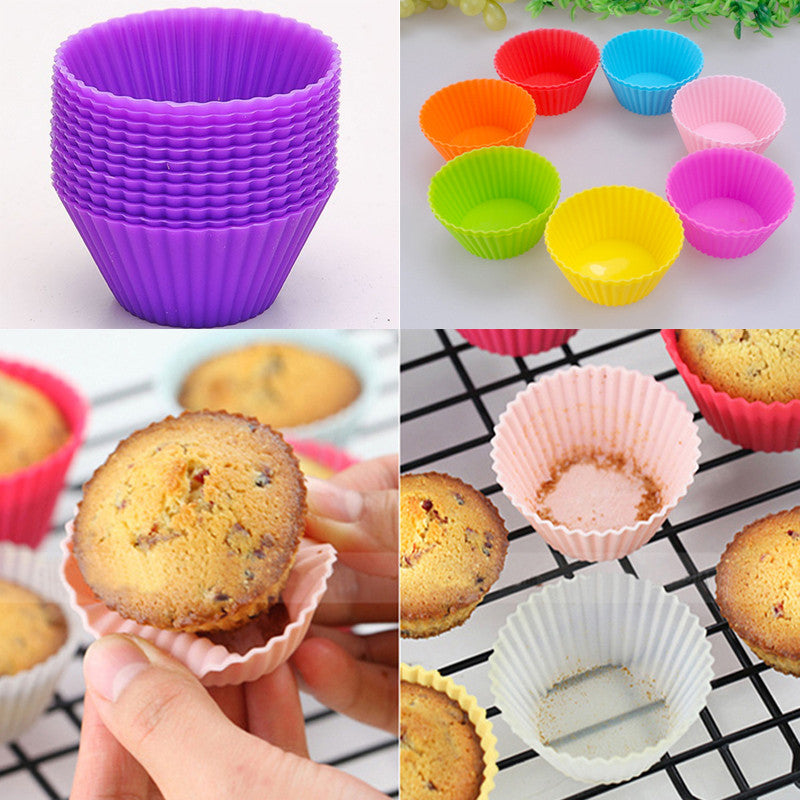 12pcs Mini Silicone Soft Cake Chocolate Cake Muffin Liners Baking Cup Mold  12pcs-mini-silicone-soft-cake-chocolate-cake-muffi