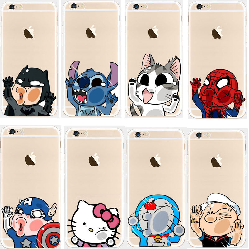 2016 Top Mobile Phone Case And Bags For Iphone 5c 5 6s Plus Back Cover Mini Hello Kitty Spider Man Cat Housing Telfono Soft Case Soft Tpu Case 7 / For Iphone 5S 2016-top-mobile-phone-case-and-bags-for-iphone-5c-