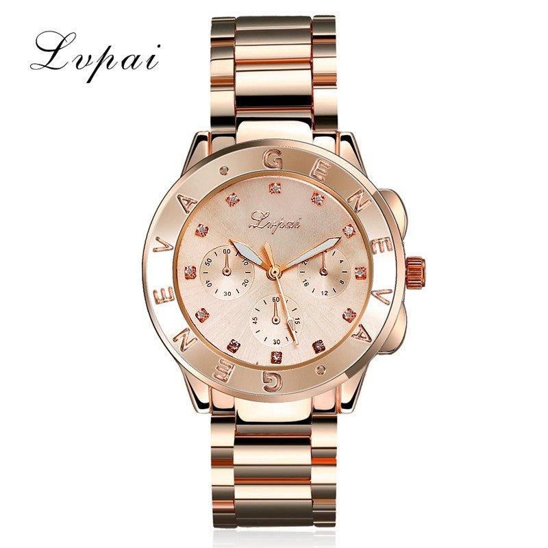 2016 Hot Sale Lvpai Gold Silver Women Dress Watch Luxury Stainless Steel Sport Quartz Jewelry Electronic Wristwatch XR880 Silver 2016-hot-sale-lvpai-gold-silver-women-dress-watch-