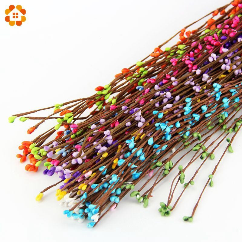 NEW arrival 40cm 9colors(10pcs/lot) artificial Beads Branches flower stamen for home wedding party car decoration crafts flowers Light Green new-arrival-40cm-9colors10pcs-lot-artificial-beads