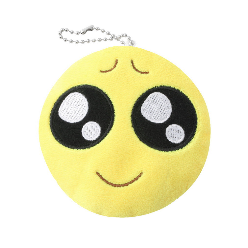 1Pcs Cute Face Key Chain Phone Emoji Emoticon Yellow Cushion Soft Stuffed Plush Toy Key Chain Fast Free Shipping New Hot Selling 9 1pcs-cute-face-key-chain-phone-emoji-emoticon-yell