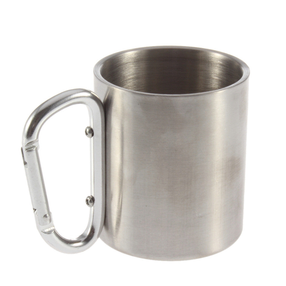 1pcs double wall travel mug cup caneca mugs cups and mugs Aluminium carabiner stainless steel hook isolating handle travel cup  1pcs-double-wall-travel-mug-cup-caneca-mugs-cups-a