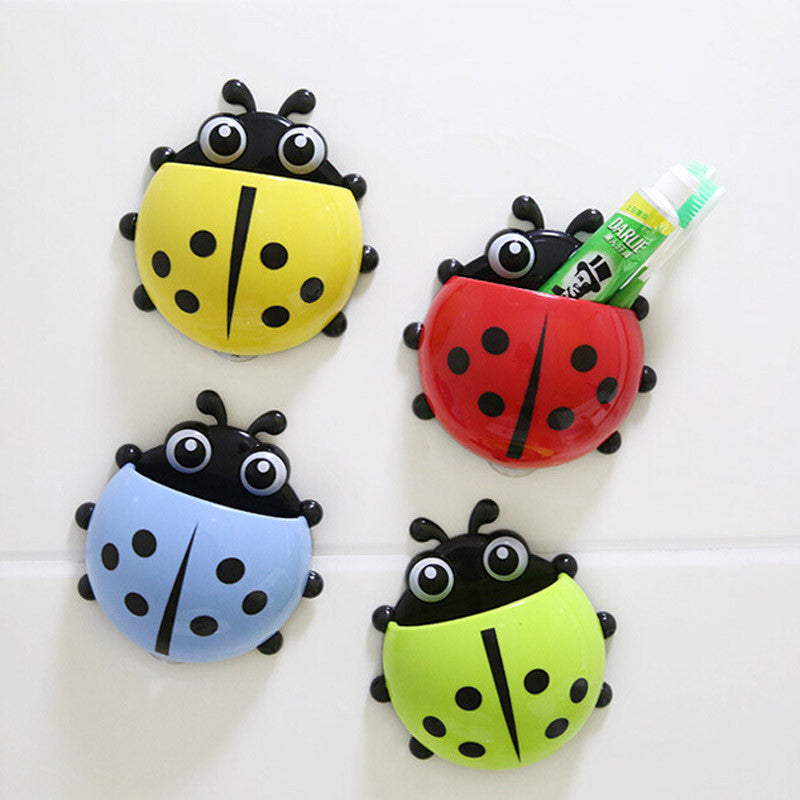 Cute Ladybug new Cartoon Sucker snails Toothbrush Holder suction hooks / Household Items / toothbrush rack / bathroom set YT1337 Ladybug red cute-ladybug-new-cartoon-sucker-snails-toothbrush-