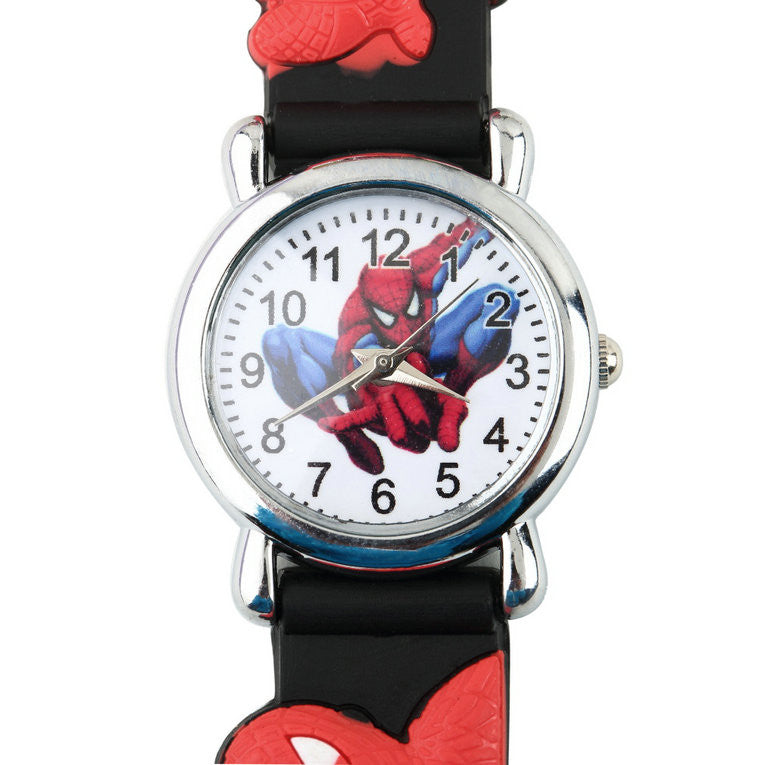 2015 Children Boys Spider Man Marvel Cartoon Kids Analog Quartz Wrist Watch Rubber New NO1  2015-children-boys-spider-man-marvel-cartoon-kids-