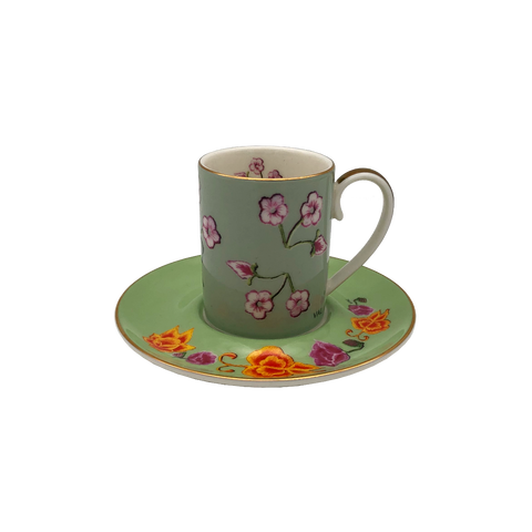 Espresso Cup & Saucer (set of 4 with Gift Box) - KEBAYA MIX SET