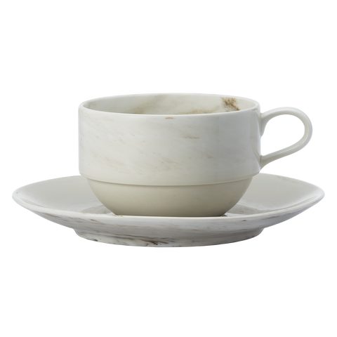 Marble Cup & Saucer - Luzerne