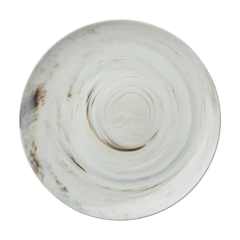 Marble Round Coupe Plate - Luzerne