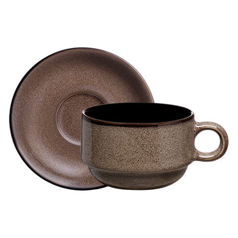Rustic Cup & Saucer - Luzerne