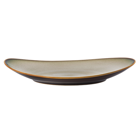 Oval Coupe Plate - RUSTIC