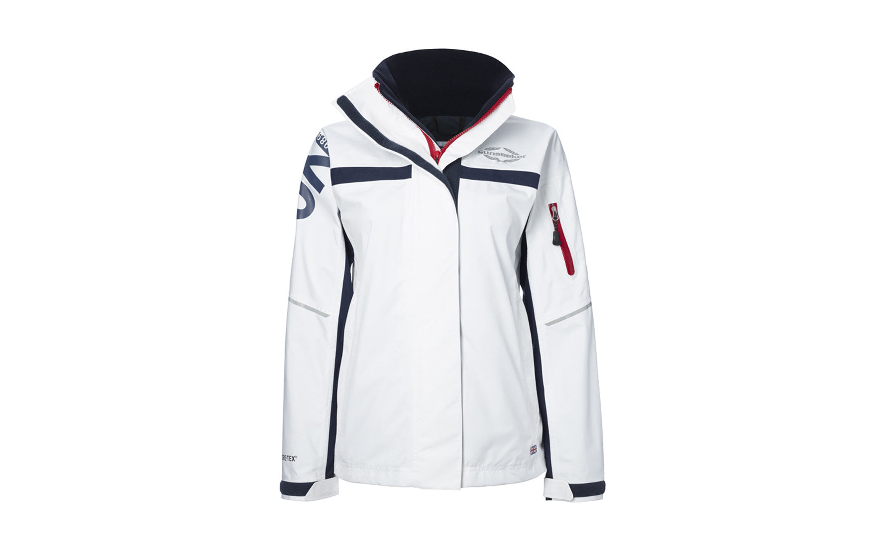 Atlantic Jacket White/Red