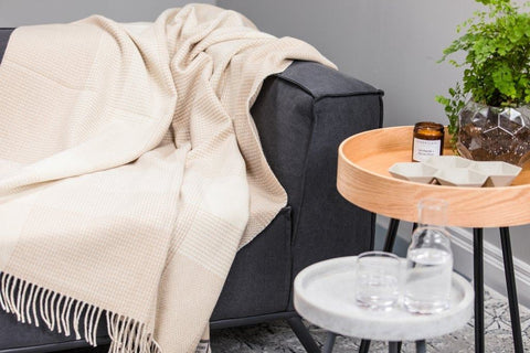 bone and white cashmere foxford throw mothers day