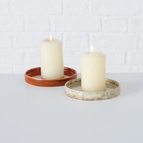 Candle Plate Jany Brown