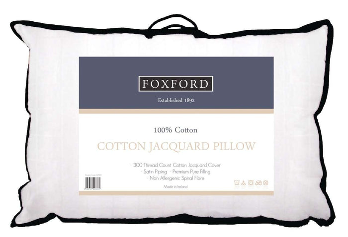 Product Shot of Foxford's Luxury Cotton Jacquard Pillow