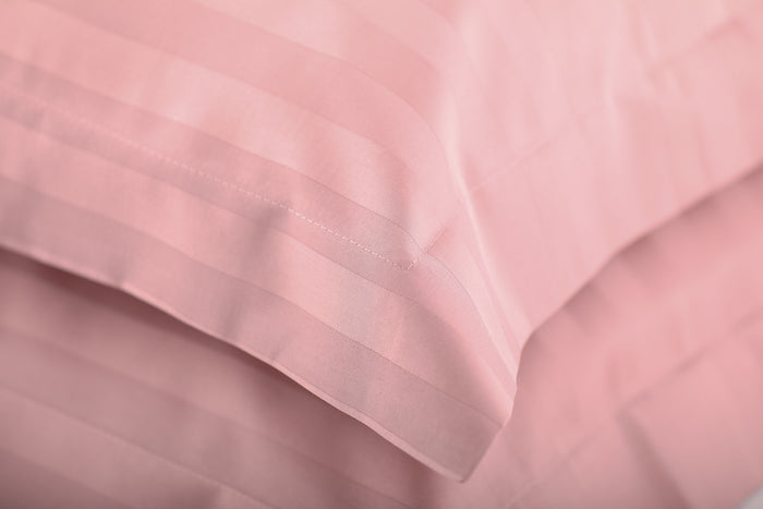 Foxford Classic Dusty Pink Sateen Pillowcase - Pair