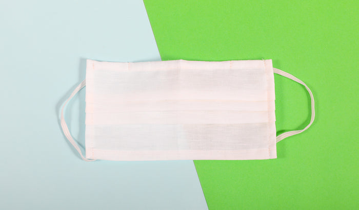 Face Mask - White Linen