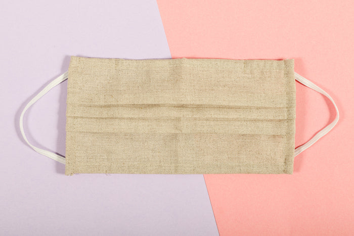 Face Mask - Beige Linen