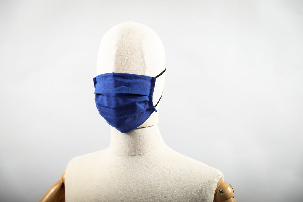 Face Mask - Indigo Linen