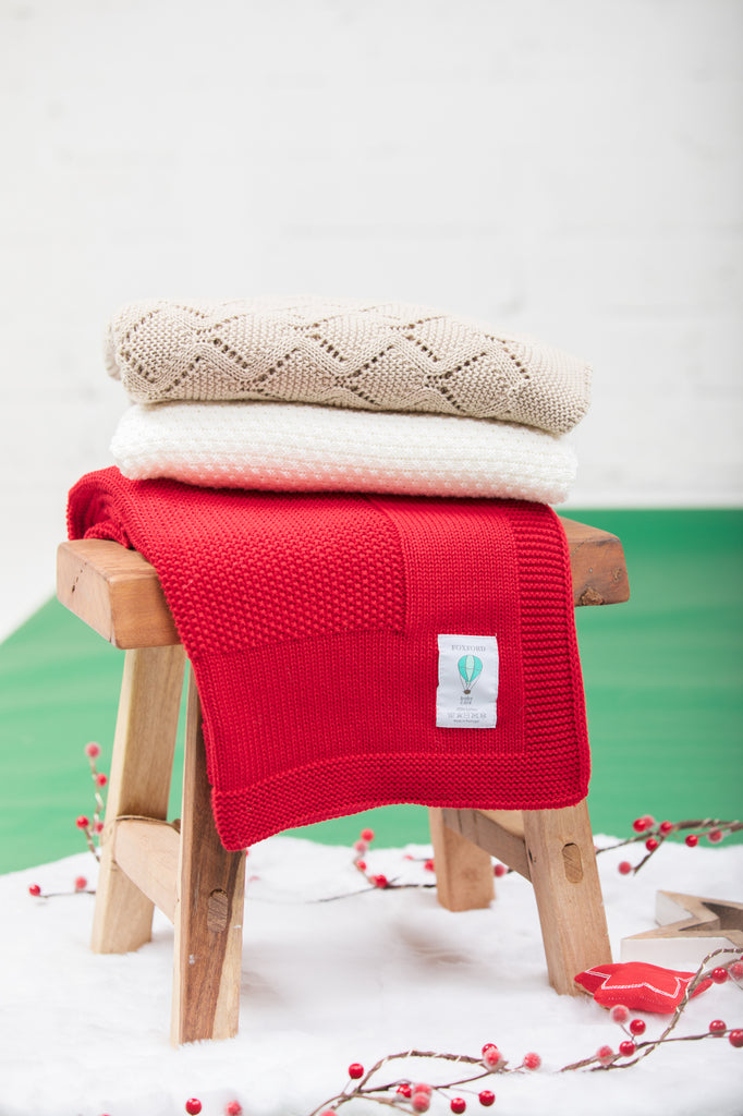 Foxford Christmas Cotton Baby Blanket