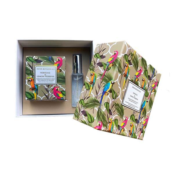 Irish Botanicals - Verveine & Lemon Verbena Candle and Perfume Gift Set