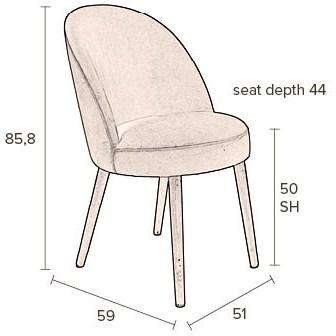 Barbara Chair -Camel
