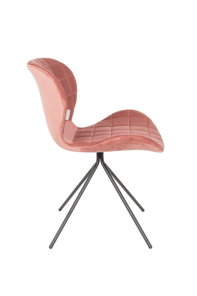 OMG Chair - Old Pink Velvet Chair -SALE