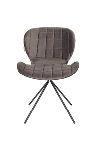 OMG Grey - Velvet Chair