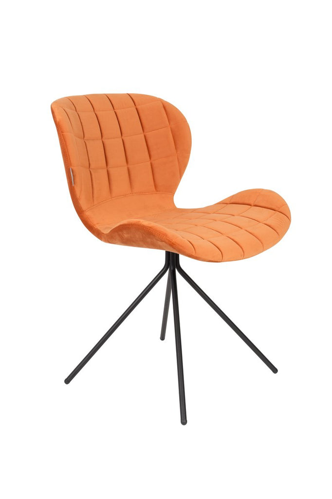 OMG Chair - Orange Velvet Chair