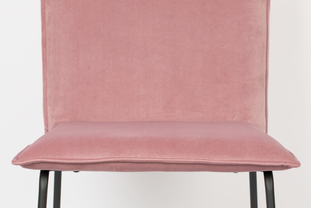Velvet Floke Chair - Pink