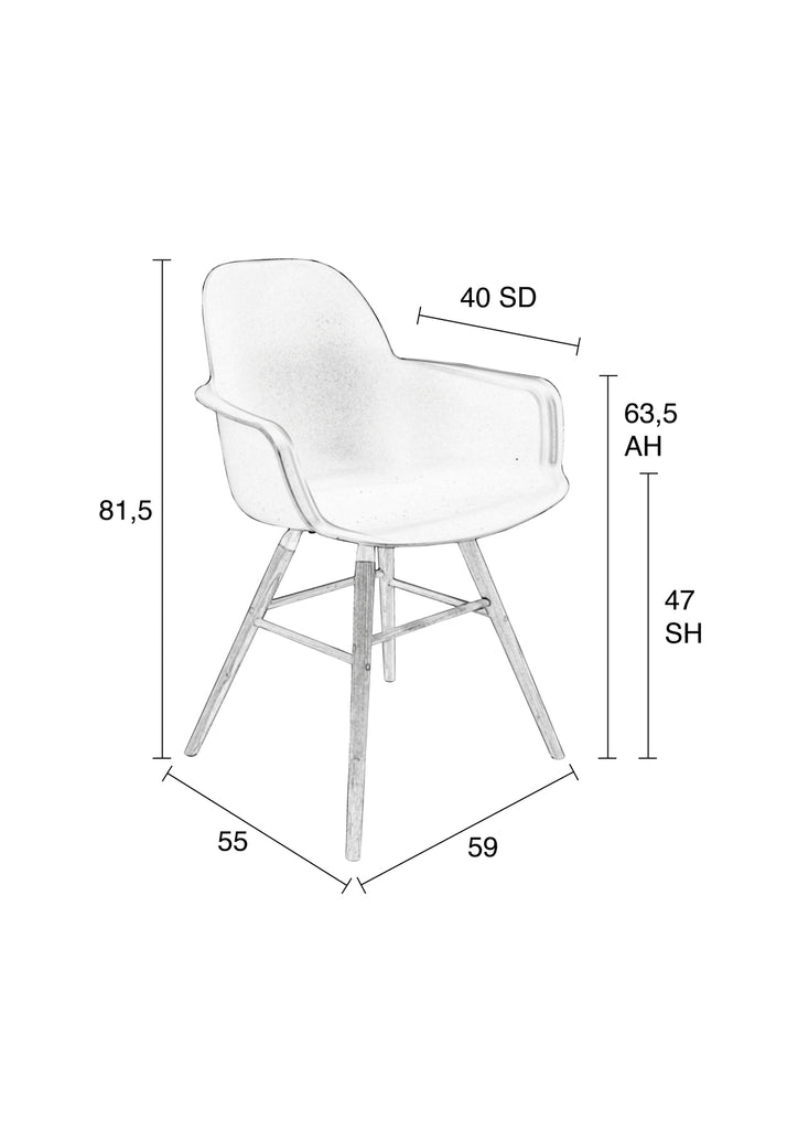 Albert Kuip Armchair - White