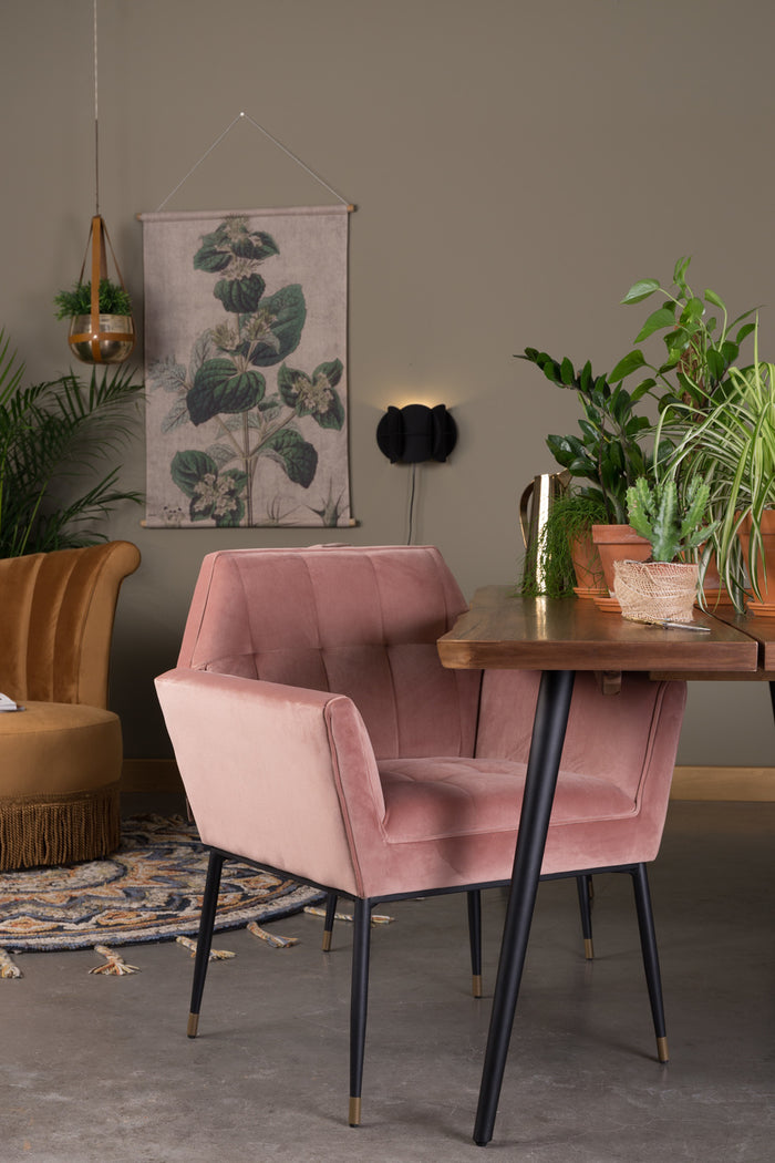 Kate Armchair - Pink Clay
