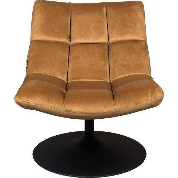 Bar Lounge Chair - Velvet Golden Brown