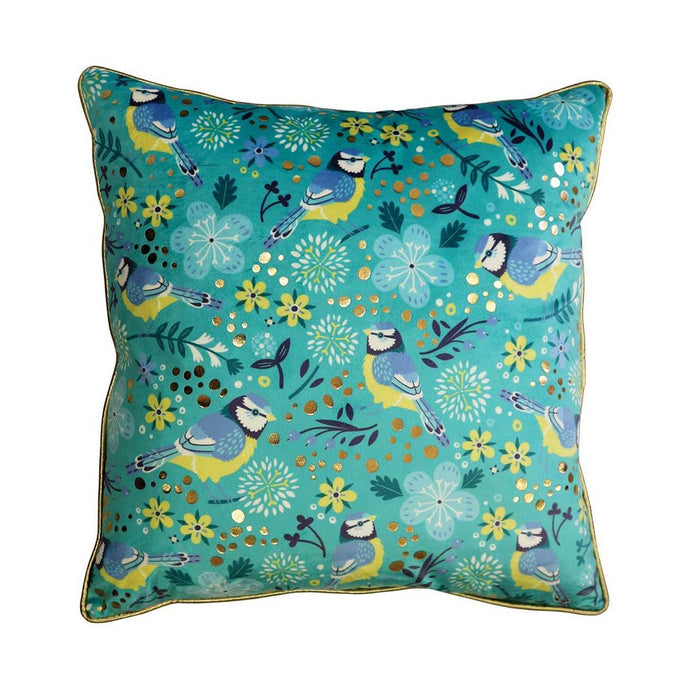 Tipperary Crystal Birdy Blue Tit - Cushion