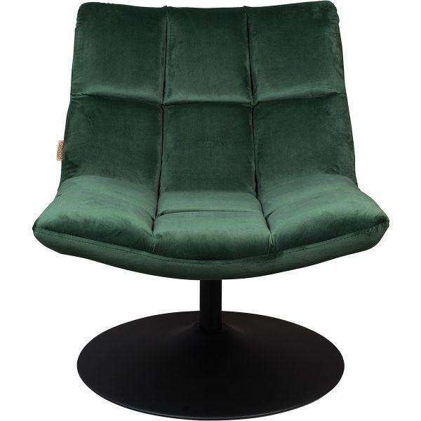 Bar Lounge Chair - Velvet Green