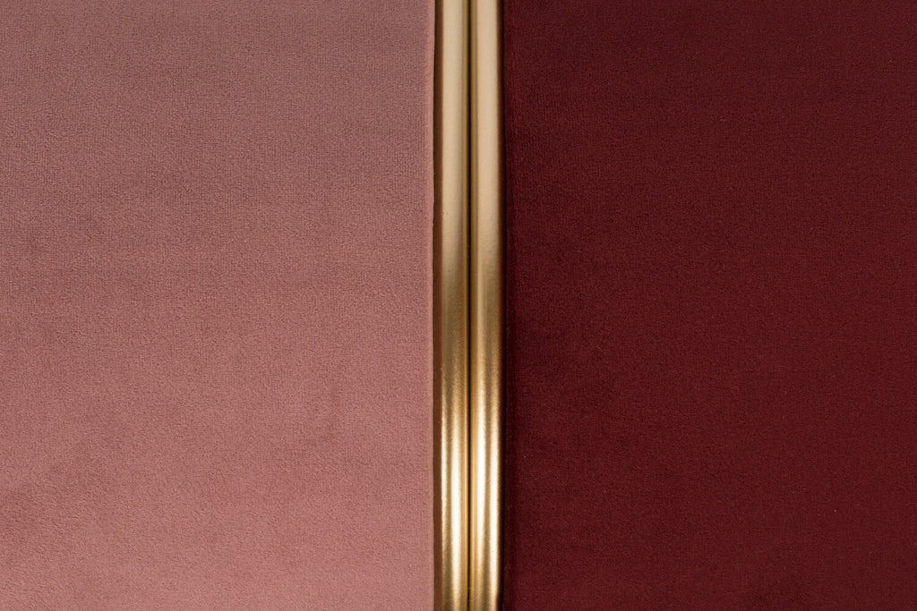 Velvet & Gold Stool in Blush