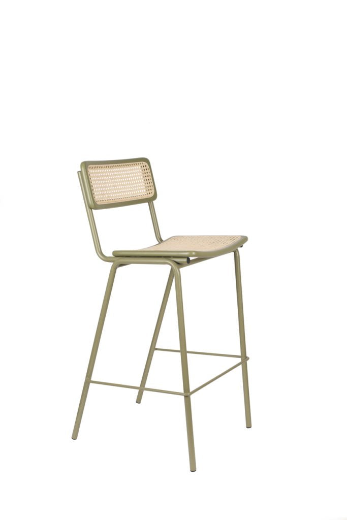 Jort Counter Stool - Green/Natural