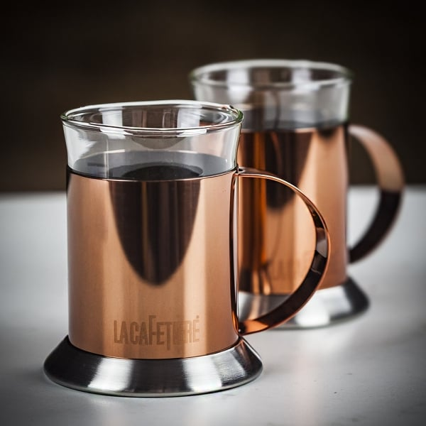 Copper Glass Cups - Set of 2