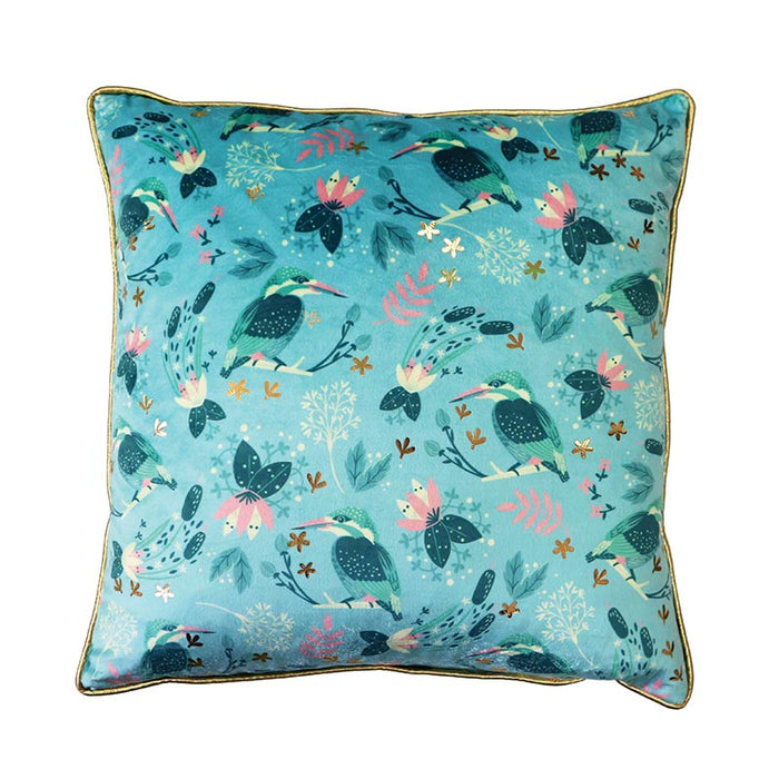 Tipperary Crystal Birdy Kingfisher - Cushion