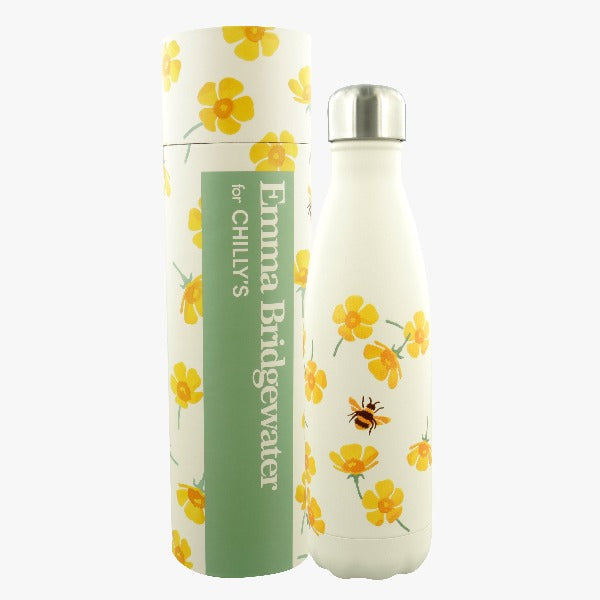 Chillys Water Bottle - Emma Bridgewater Buttercup Flower 500 ml