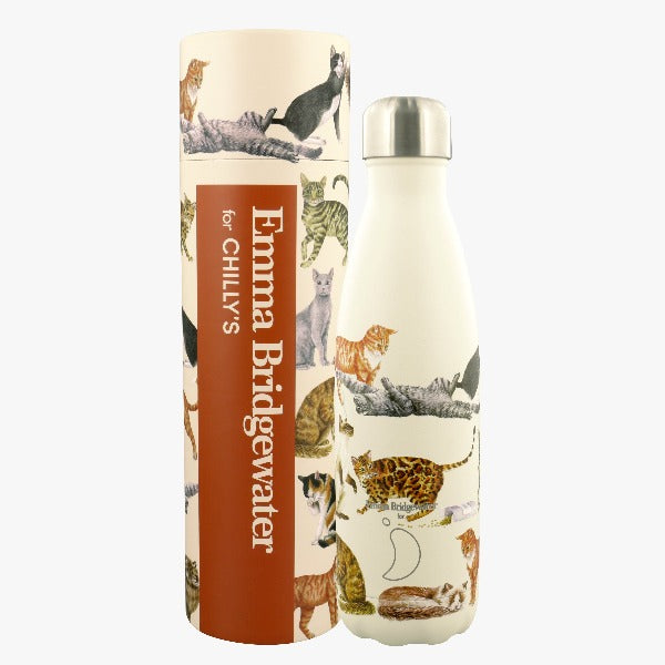 Chilly's Emma Bridgewater Cats Print Drinks Bottle - 500ml