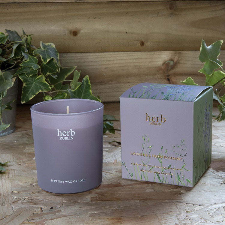 Herb Lavender Boxed Candle