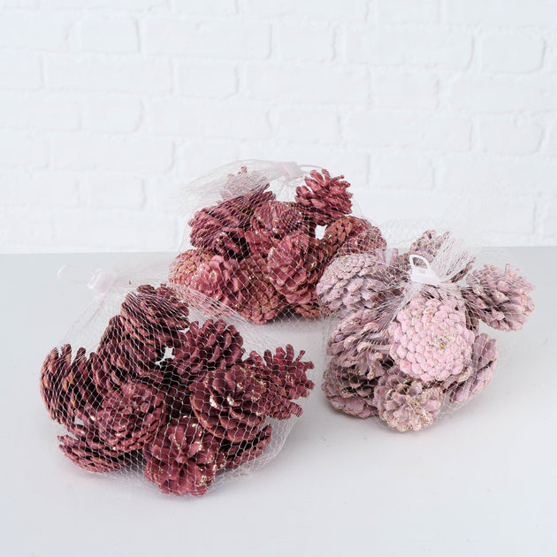 Decorative Pinecones - Pink