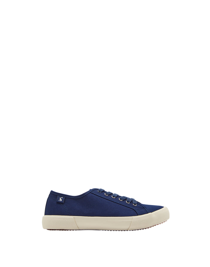 Joules Coast Pump Canvas Trainers - Navy
